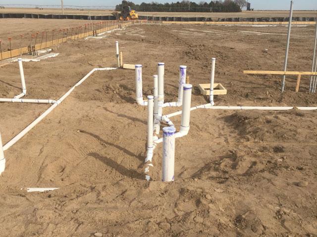 Plumbing underground new construction commercial trade for Plumbing for new construction